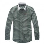 BURBERRY MEN CHECKERS CASUAL SHIRT GREEN-500x500