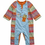 catimini baby boys colorful rainbow stripe romper
