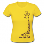 yellow-giraffe-women-s-t-shirts